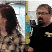 cameras catch 50-year-old perv on the run! Fugitive teacher,  Tad Cummins, spotted with abducted student, 15, with dyed hair at Walmart store 700 miles from home -  wife files for divorce