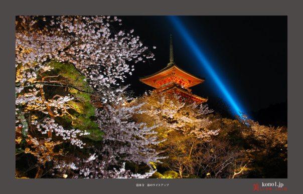 清水寺ライトアップ01