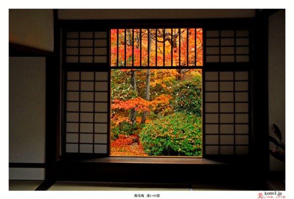 ブログ 京都 源光庵 げんこうあん 紅葉 悟りの窓 迷いの窓