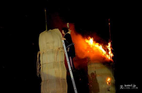 ブログ 福島県 日本三大火祭 松明あかし 伊達政宗 須賀川城 五老山 翠ケ丘公園