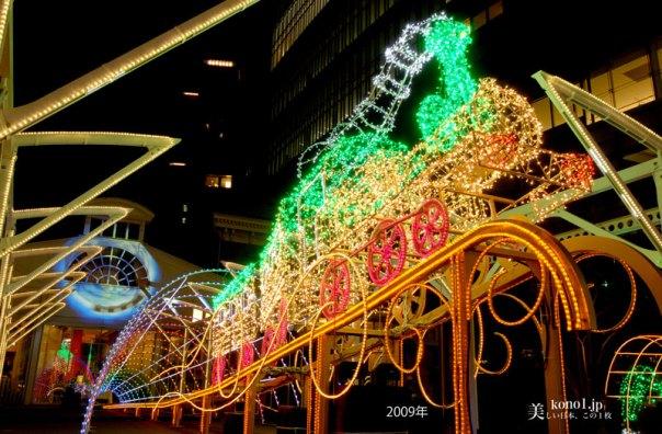 東京 夜景 旧新橋停車場 イルミネーション LED