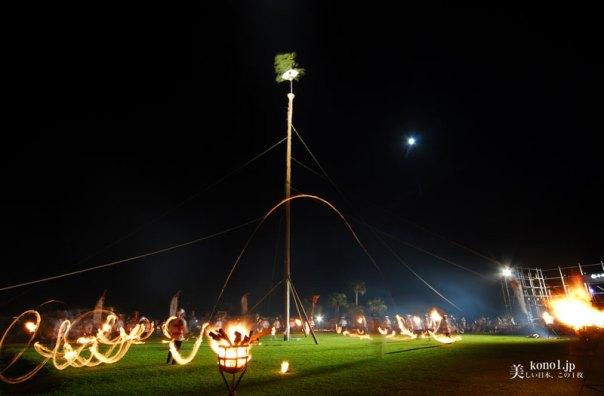 宮崎県串間市 都井岬 火祭 大蛇退治 松上げ 岬馬 灯台