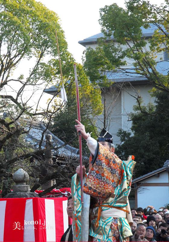 京都 廬山寺 節分会 鬼踊り 鬼のお加持 法弓 追儺師 降魔矢