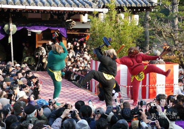 京都 廬山寺 節分会 鬼踊り 鬼のお加持 法弓 追儺師 降魔矢 鬼法楽