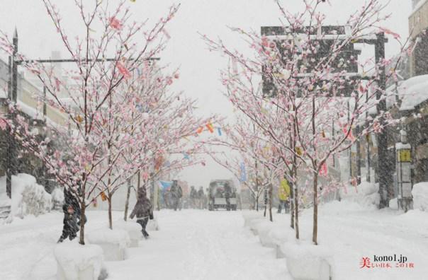秋田県 大館 アメッコ市 冬の風物詩 白ひげおおかみ ミズキの枝 忠犬ハチ公