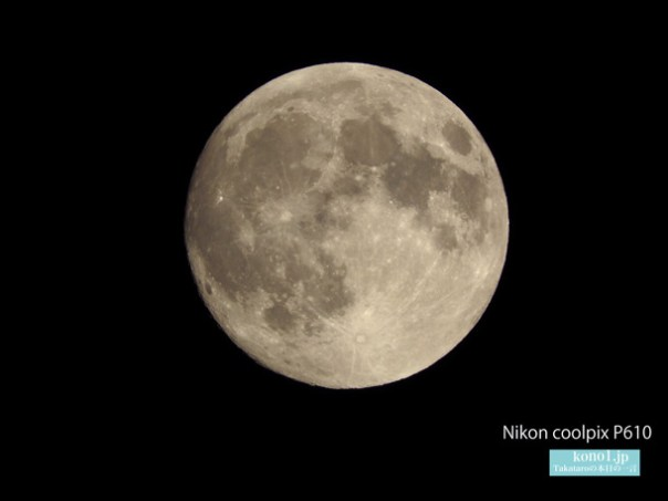 満月を撮影