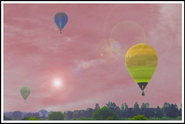 個展 Takataroのフォトアートの世界 熱気球