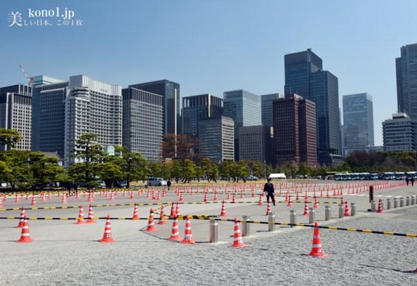 皇居乾通り一般公開 2016年春 桜 江戸城石垣 乾門