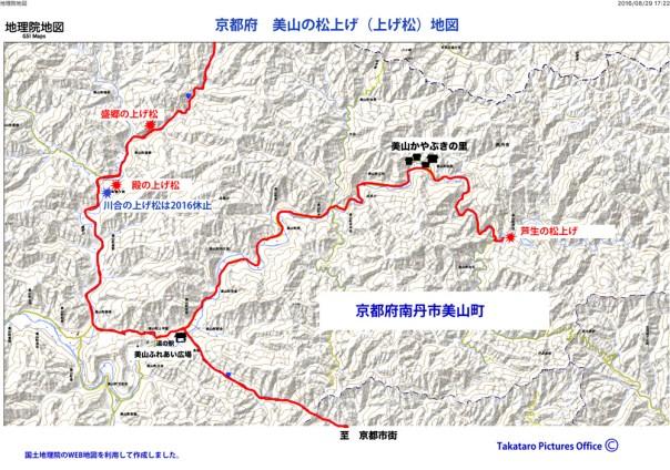 美山町 上げ松会場地図 盛郷 川会 殿 芦生 かやぶきの郷地図