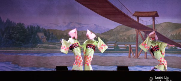 おわら風の盆 越中八尾 東町支部の踊り おわら演舞場