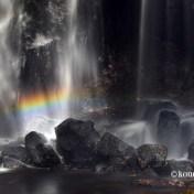 達沢不動滝 紅葉 虹 美しい滝 福島県