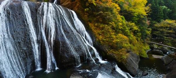 茨城県 袋田の滝 紅葉 滝 四段の滝 秋 瀑布