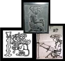 Several ancient representations of backstrap weaving.