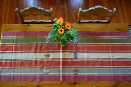 "6. $40.00 Measure: 17.5"" x 60"" (plus fringe) Hand washable. Amount available: 1 unit From San Gaspar Chajul, Quiché. Woven by Ixil-Maya women, of Asociación Chajulense."