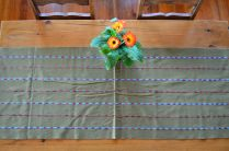 "9. $40.00 Measure: 19.5"" x 60"" (plus fringe) Hand washable. Amount available: 1 unit From San Gaspar Chajul, Quiché. Woven by Ixil-Maya women, of Asociación Chajulense."