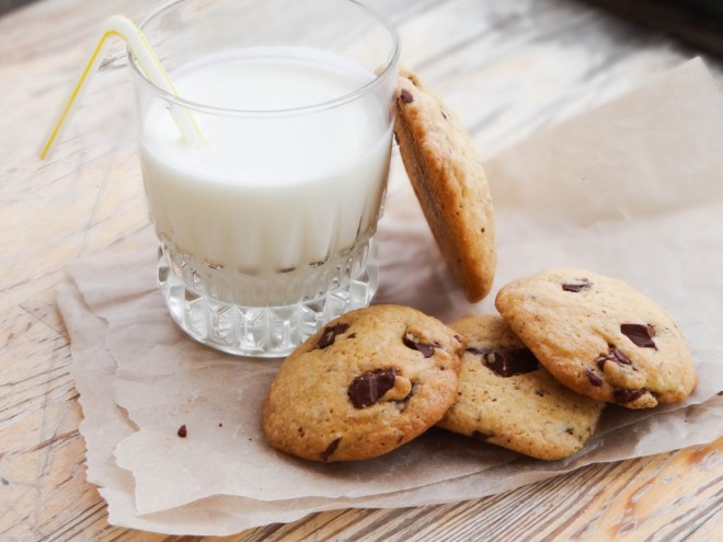 Печеньки с молоком