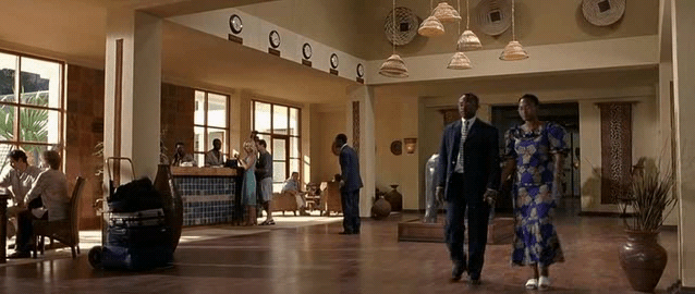Scena z filmu Hotel Rwanda