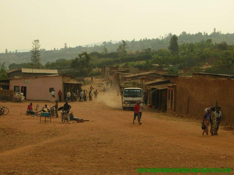 Jeden z widoków, który umila drogę z Kigali do Nyamata