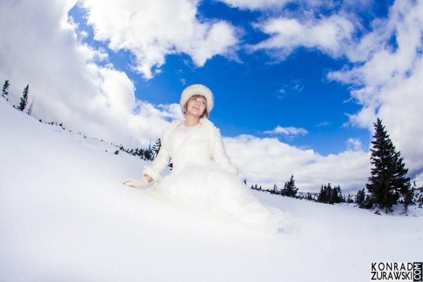 Prawdziwa Królowa Śniegu - Panna Młoda w górach | Konrad Żurawski