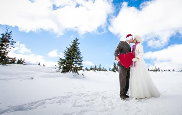 Zimowa sesja ślubna Jelenia Góra