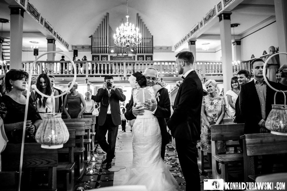 wzruszająca ceremonia ślubna