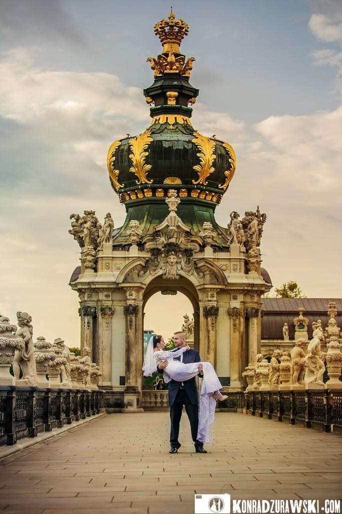 Miłość w Dreźnie? Tylko podczas ślubnej sesji w plenerze! Sesja ślubna wykonana przez Konrada Żurawskiego