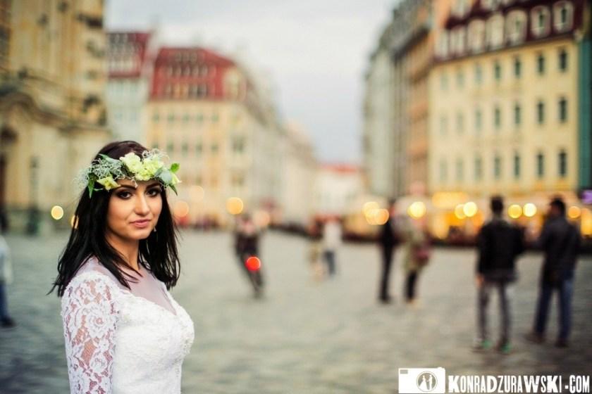 Na rynku głównym... Sesja ślubna w Dreźnie | Konrad Żurawski