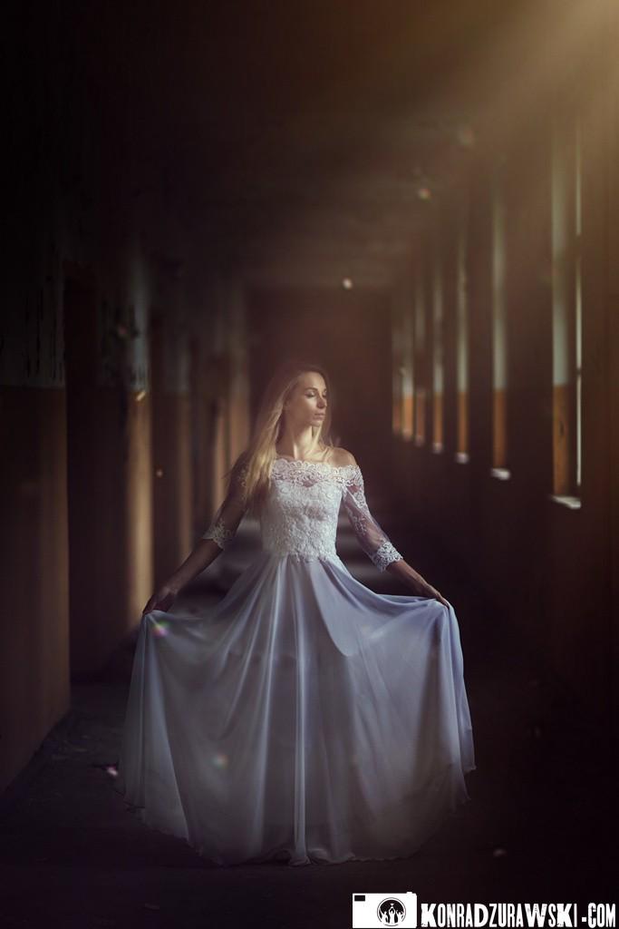 Panna młoda Jowita w urokliwej scenerii - fotografia ślubna Legnica | Konrad Żurawski