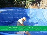 membuat kolam terpal bulat diameter 2 meter