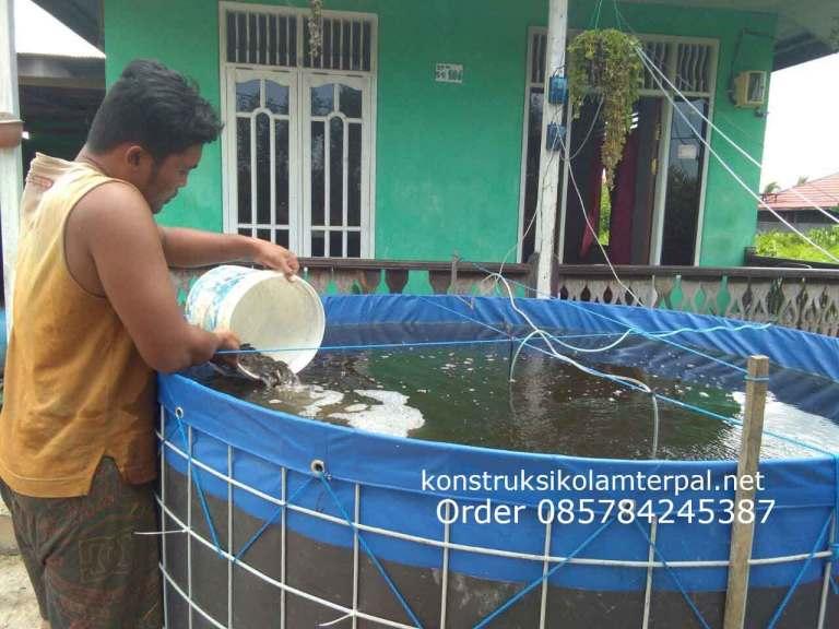 Testimoni konstruksi Jual kolam terpal 10