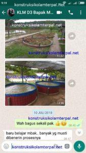 Testimoni konstruksi kolam terpal 6