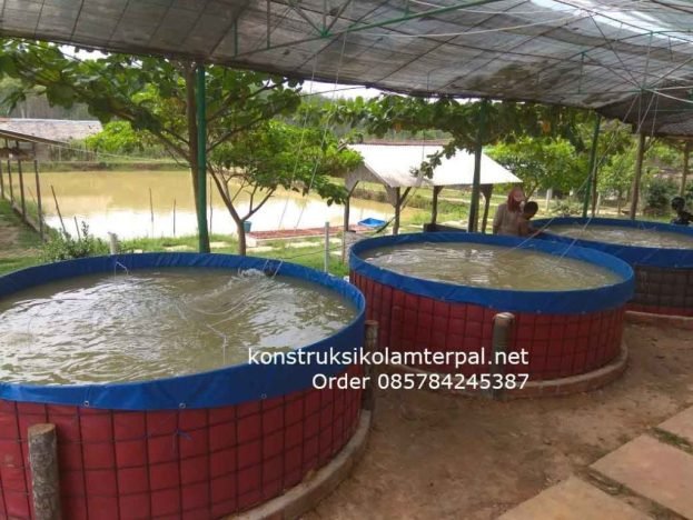 Testimoni konstruksi Jual kolam terpal 7