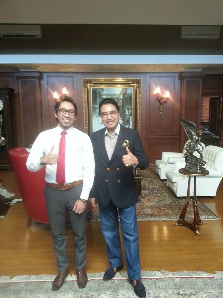 Boris Tampubolon dan Mentornya Bapak Dr. Hotma Sitompoel, S.H., M.Hum