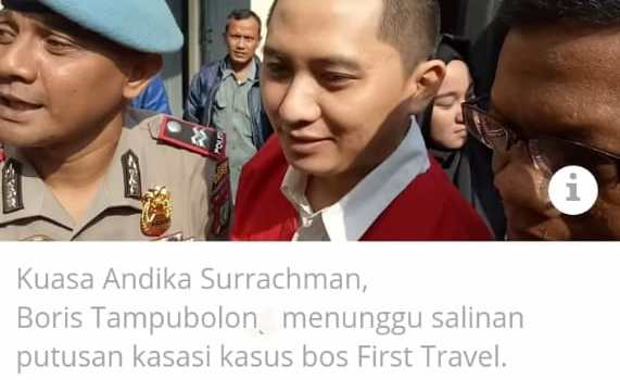 Kasasinya ditolak, Bos First Travel Tunjuk Kantor Hukum DNT Lawyers untuk Peninjauan Kembali
