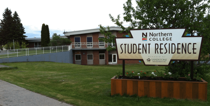 northern-college-residence-sign