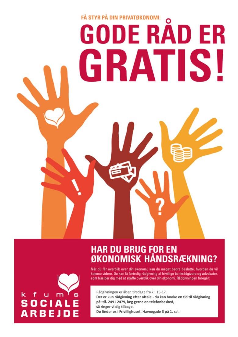 Gældsrådgivning - gratis økonomisk rådgivning for udsatte borgere i Svendborg i Foreningshuset, Havnegade 3, 1. sal.