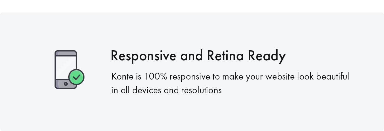 Konte WordPress theme retina ready