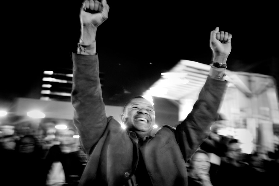 On the fourth of November 2008 , Barack Obama was elected President of the United States with over 67 million votes. In Harlem, New York, it was a day full of emotions, pride and joy. People gathered out on the streets to celebrate. Photo: Ola Torkelsson / Kontinent