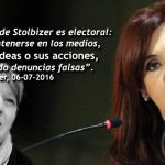 Cristina denuncia a Stolbizer y Bonadío por asociación ilícita