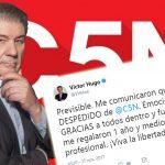 Urgente: Despidieron a Víctor Hugo Morales de C5N y avanza la censura macrista en la Argentina