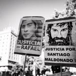 Por Santiago y por Rafael: Sus familiares volvieron a reclamar justicia