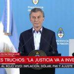 Macri no pudo responder por los aportantes truchos y culpó a factores externos por los males del país