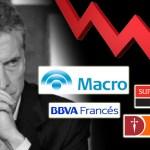 Macri experimento terminado: ya no le sirve ni a los bancos que acumulan caídas del 60 y el 80% en Wall Street