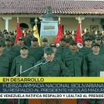 """Fuerzas Armadas de Venezuela respaldan a Nicolás Maduro con """"lealtad y subordinación absolutas"""""""