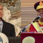 Argentina volvió al mundo: Macri se reunió con el dictador de Suazilandia, Mswati III, «Rey León» con 15 esposas y vestidos de diamantes