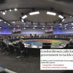 """Gordon Brown pide un """"Gobierno Global"""" temporal para abordar el coronavirus """"con poderes ejecutivos"""""""