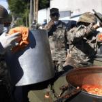 Coronavirus: El Ejército entregó comida en barrios de Quilmes