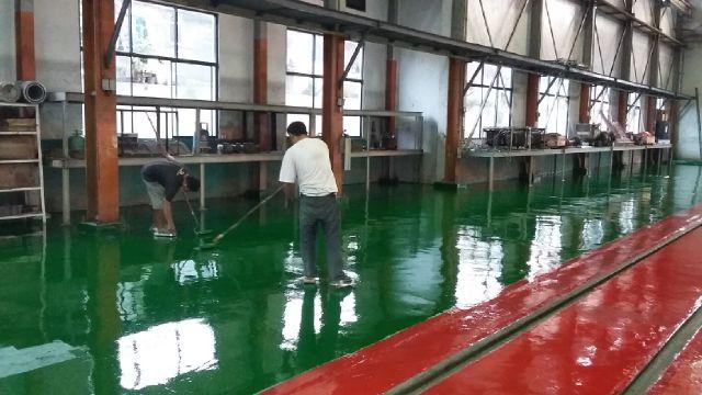 epoxy floor atau epoxy lantai, proses pengerjaan epoxy lantai