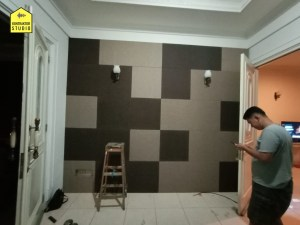 Instalasi Panel Akustik Dinding
