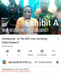 Exhibit A - Smally was a 13 year old child soldier, he is now DEAD